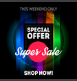 super sale banner template special offer this vector image