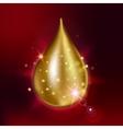 Supreme collagen oil drop essence Premium shining vector image vector image