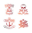 tattoo studio logo colorful logos for tattoo vector image vector image