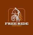 Vintage and modern biking logo badges
