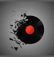 vintage vinyl records broken and shattered vector image