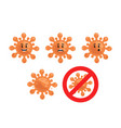 weborange cute virus bacteria microbe character vector image vector image