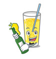 with beer lemonade mascot cartoon style vector image