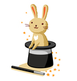 Bunny in a hat vector image