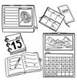 Set of calendars - hand-drawn vector image