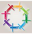 symbol of teamwork vector image