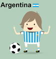 world cup 2014 argentina national football team vector image
