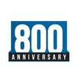 800th anniversary icon birthday logo vector image vector image