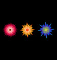 abstract 3d psychedelic geometric flower set vector image vector image