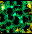 abstract glowing pattern of gears and spheres in vector image