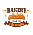 Bakery shop pastry cafe label emblem vector image