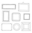 beautiful template hand drawn frames vector image vector image