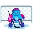 Bird is a hockey goalkeepe vector image vector image
