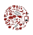 blood icons in circle vector image vector image