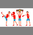 boxer sportsman player boxing different vector image vector image