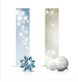 christmas new year cards vector image vector image