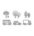 city street elements set urban transport vector image vector image