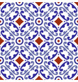 colorful ceramic pattern seamless vector image vector image