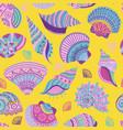 Colorful seashells seamless pattern