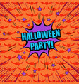 comic halloween party concept vector image vector image