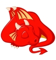 Cute dragon cartoon sleeping vector image