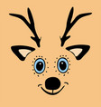cute funny deer head cartoon vector image vector image