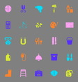 DIY tool color icons on gray background vector image vector image