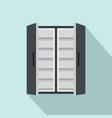 double door freeze icon flat style vector image vector image