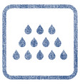 drops fabric textured icon vector image