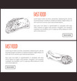 fastfoot set with taco hot dog vector image vector image