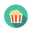 Flat Design Concept Popcorn Icon With Long S vector image vector image