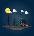 Flat design of spooky house vector image vector image