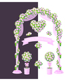 floral decoration pink vector image vector image
