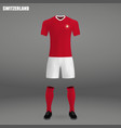 football kit of switzerland 2018 vector image vector image
