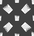 Fry icon sign Seamless pattern on a gray vector image