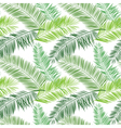 Green and white palm seamless pattern Hawaiian vector image vector image