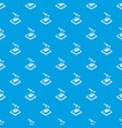 heart d printing pattern seamless blue vector image vector image
