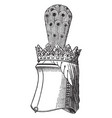 helm of sir edmund de thorpe have a crest and vector image vector image