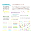 highlighter elements collection vector image vector image