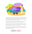 hot summer sale summertime sticker with cocktail vector image vector image