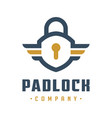 internet safety padlock logo design vector image