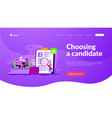 job interview landing page template vector image vector image