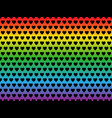 lgbt flag heart shape pattern vector image