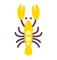 Lobster icon isolated on white flat style vector image vector image