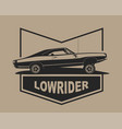 low rider car label american muscle vintage vector image vector image