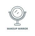 makeup mirror line icon linear concept vector image vector image
