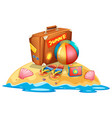 many summer beach equipment vector image vector image