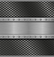 metal perforated background with rivets vector image