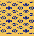 navy blue and yellow geometric seamless pattern vector image vector image