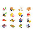 online shopping - isometric items with things vector image vector image